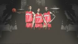 Bosh, Wade, James Miami Heat Widescreen