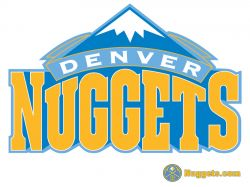 Denver Nuggets White Logo