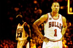 Derrick Rose And MJ Widescreen