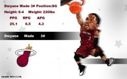 Dwyane Wade Drawn Dunk Widescreen