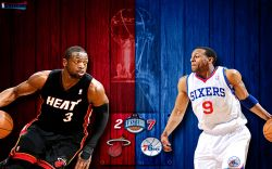 Heat vs 76ers 2011 NBA Playoffs Widescreen