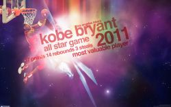 Kobe Bryant 2011 NBA All-Star MVP Widescreen wallpaper