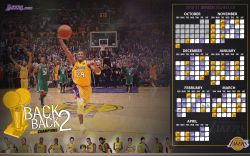 LA Lakers 2010-11 Schedule Widescreen
