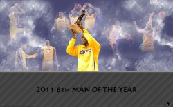 Lamar Odom 2011 6th Man Trophy Widescreen
