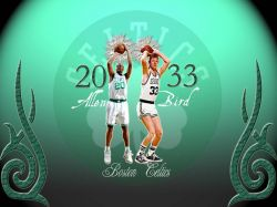 Larry Bird and Ray Allen Celtics