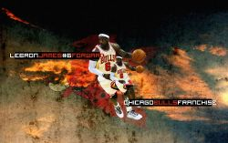 LeBron James Bulls Jersey Widescreen