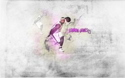 LeBron James Dribbling Widescreen