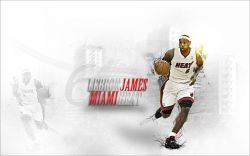 LeBron James Miami Heat Widescreen