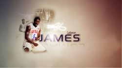 LeBron James USA Team Wide Screen