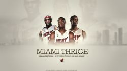 LeBron Wade Bosh Miami Heat Widescreen