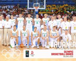 Lithuania Basketball Olympic Team 2008