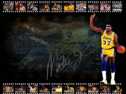 Magic Johnson LA Lakers Signed