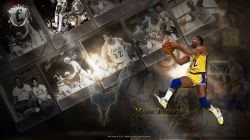 Magic Johnson LA Lakers Widescreen
