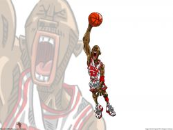 Michael Jordan Drawn Dunk