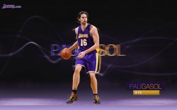Pau Gasol LA Lakers Widescreen