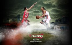 Rockets vs Blazers 2009 Playoffs Widescreen