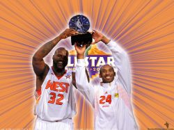 Shaq And Kobe NBA All-Star 2009 MVPs