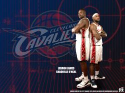 Shaq and LeBron Cavaliers