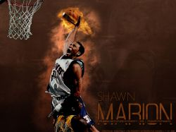 Shawn Marion Flame Dunk