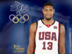 Tim Duncan Olympics 2004 USA Team