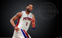 Tracy McGrady Detroit Pistons Widescreen
