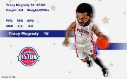 Tracy McGrady Drawn Pistons Widescreen