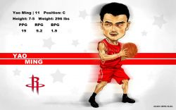 Yao Ming Drawn Widescreen