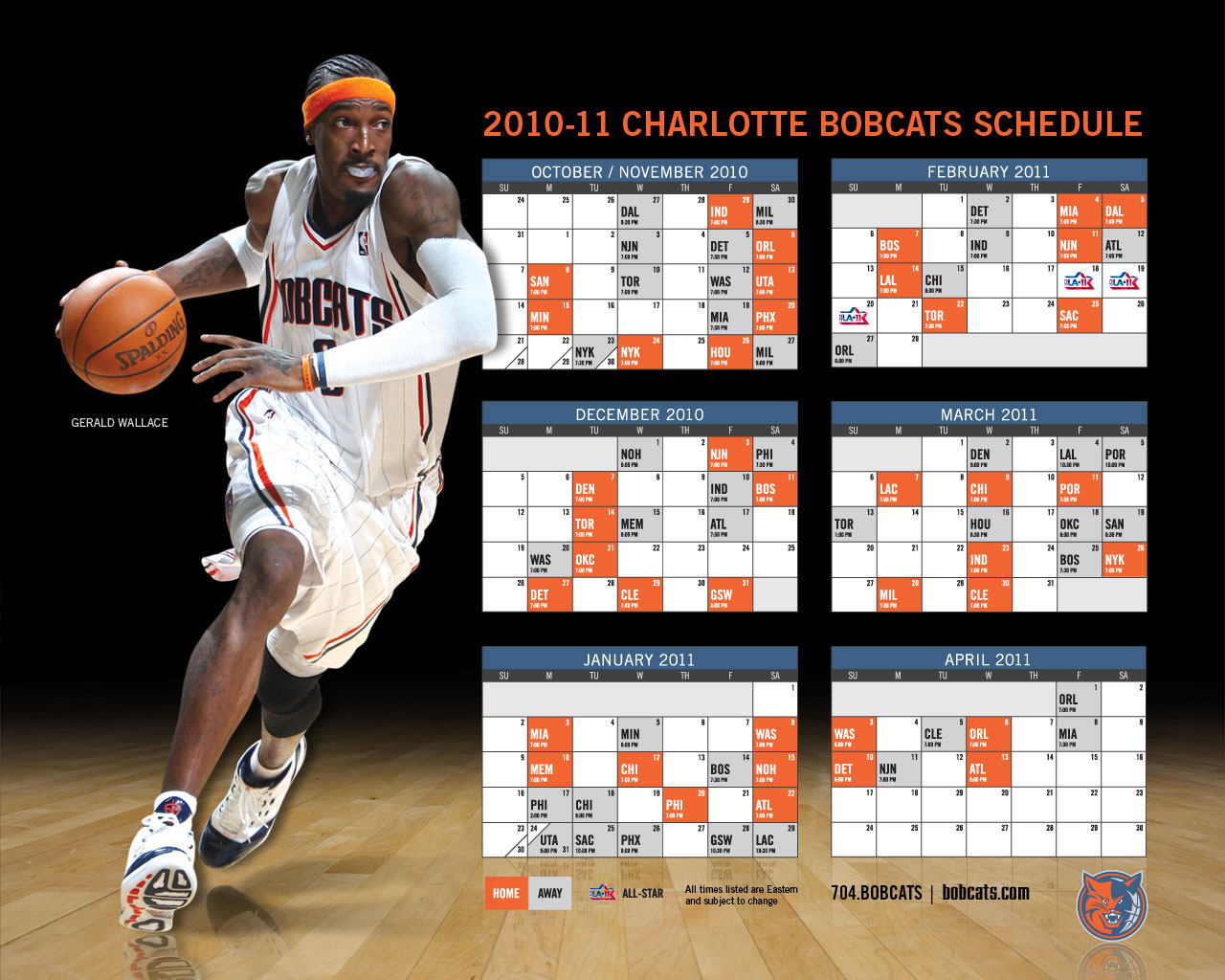 Charlotte Bobcats 2010-11 Schedule