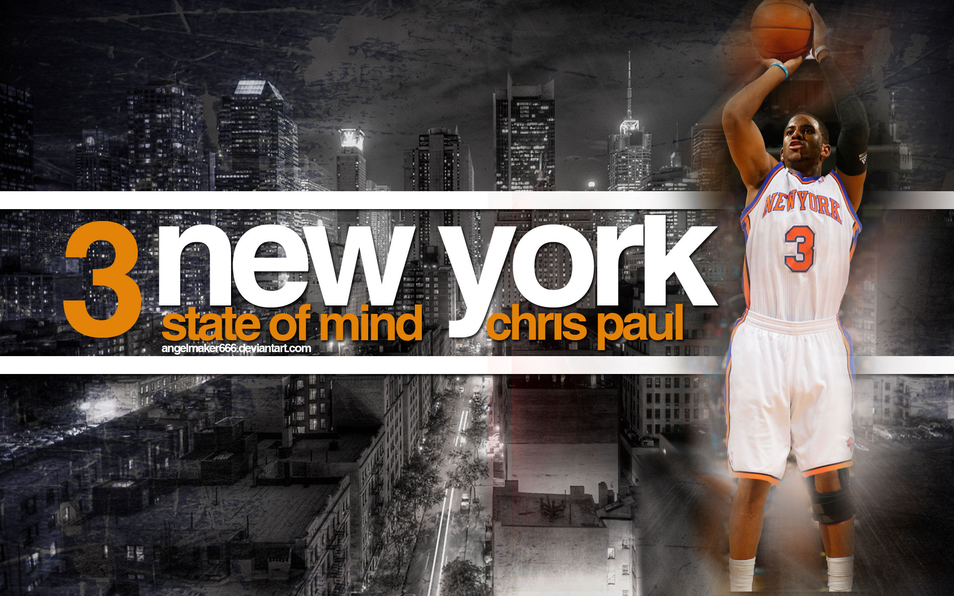 chris paul new york knicks widescreen photo