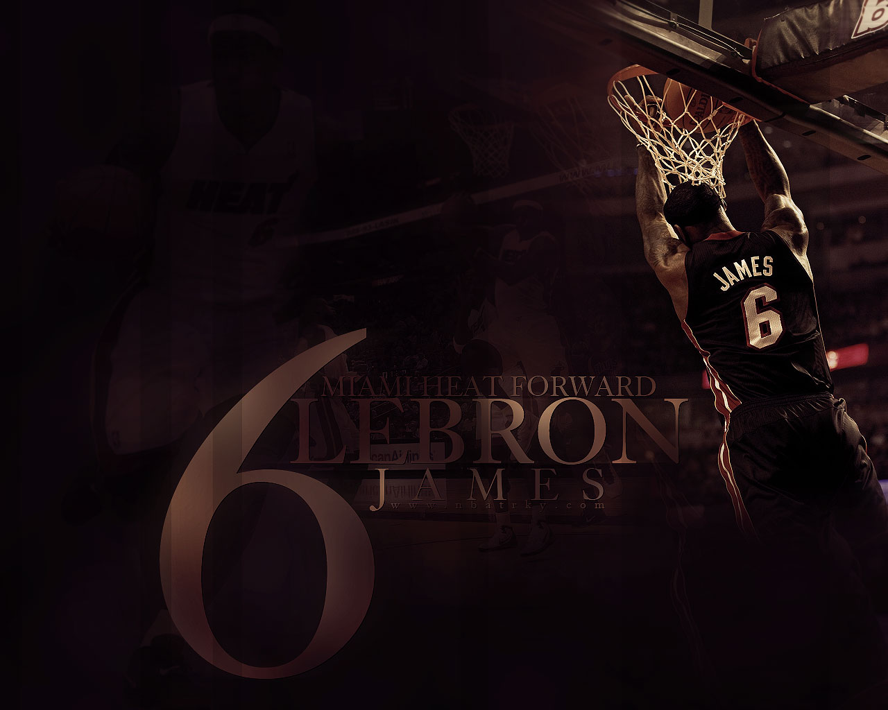 LeBron James Heat Reverse Dunk Widescreen
