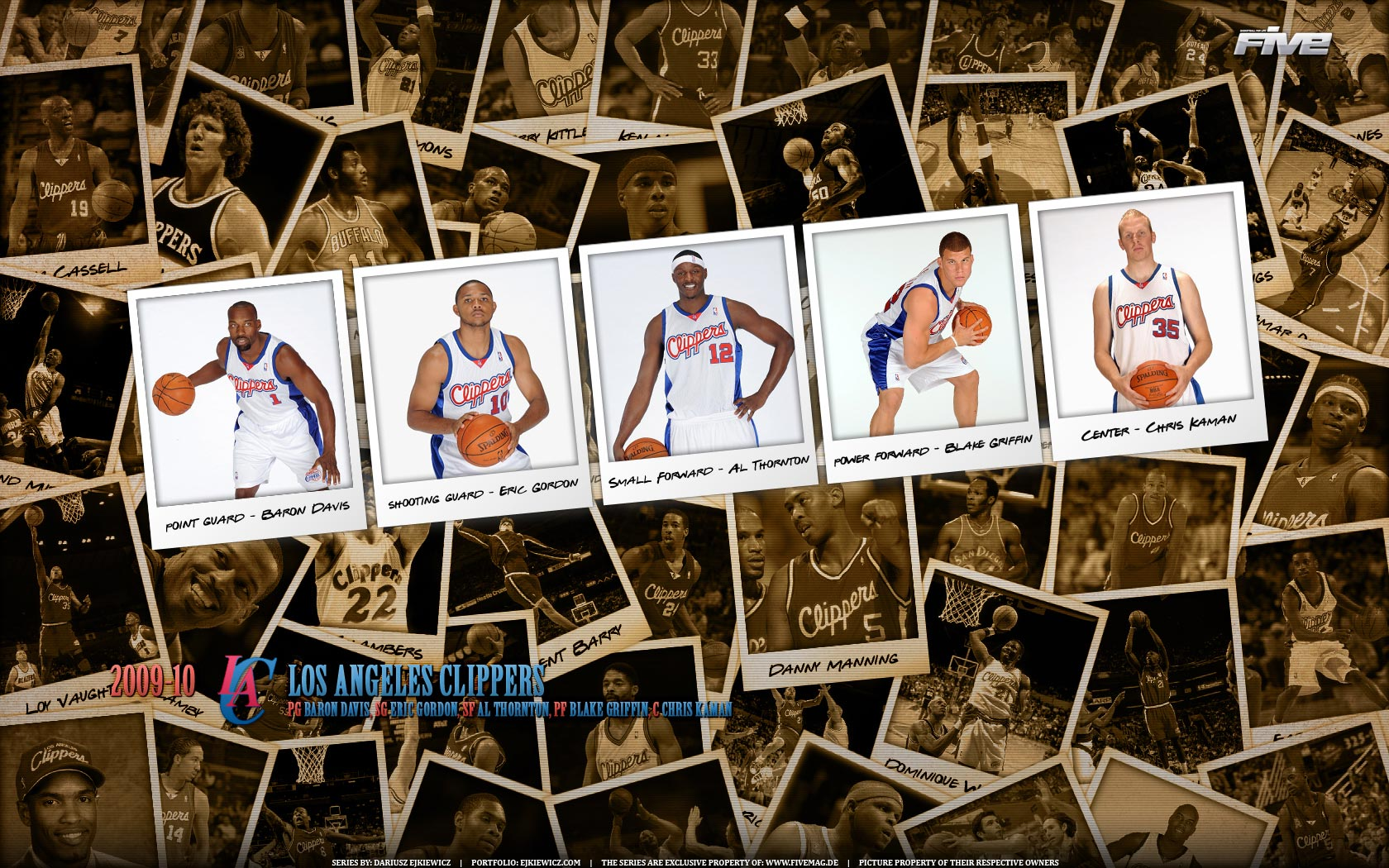 Los Angeles Clippers Polaroid 2010 Widescreen
