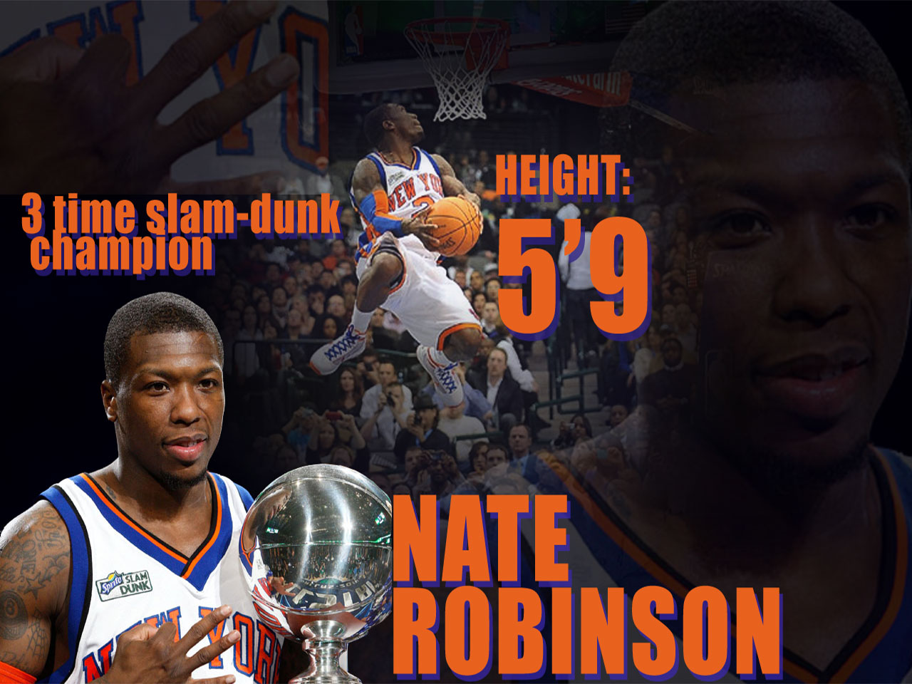 Nate Robinson 3-Time Slam Dunk Champ