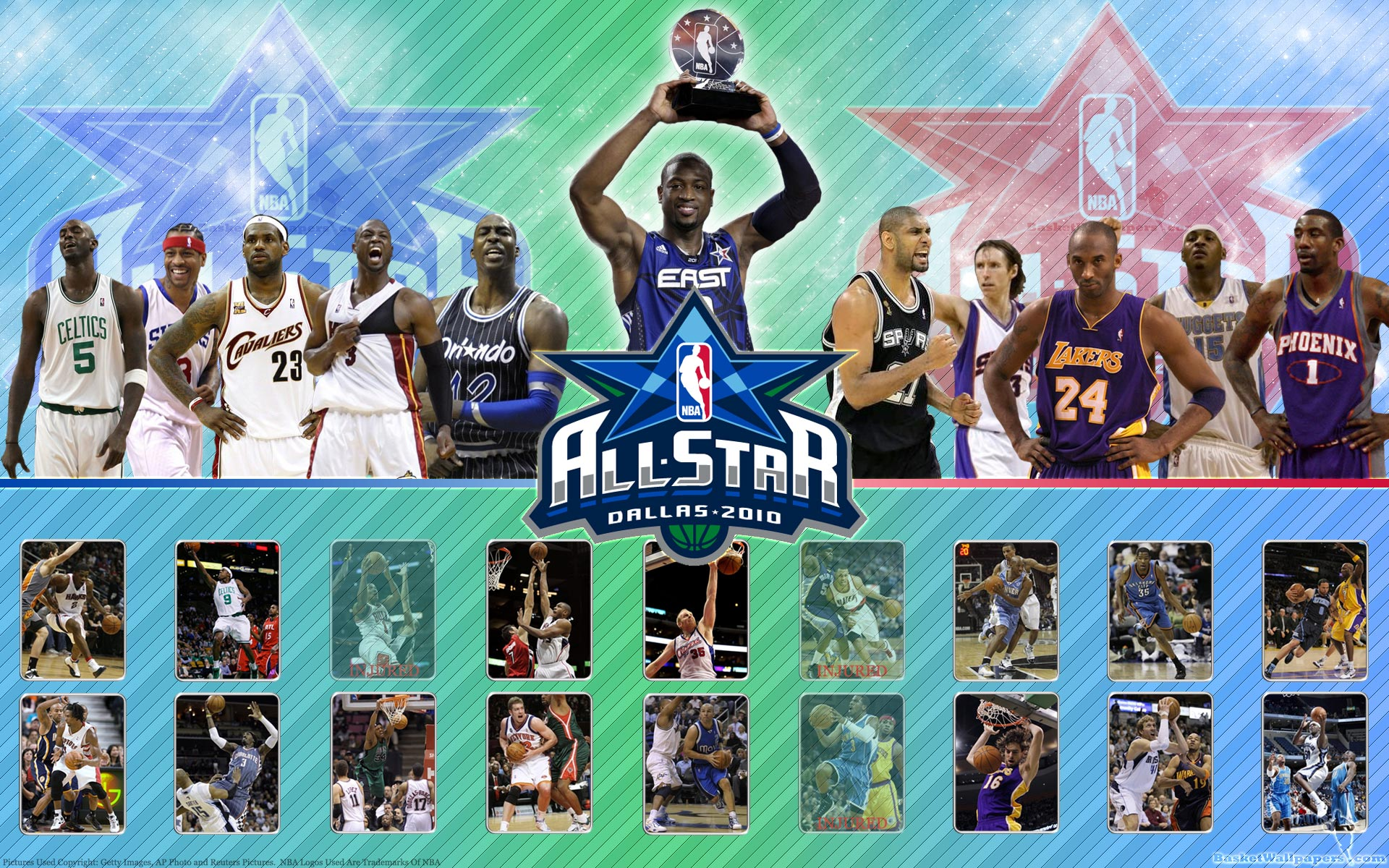 NBA All Star 2010 Rosters