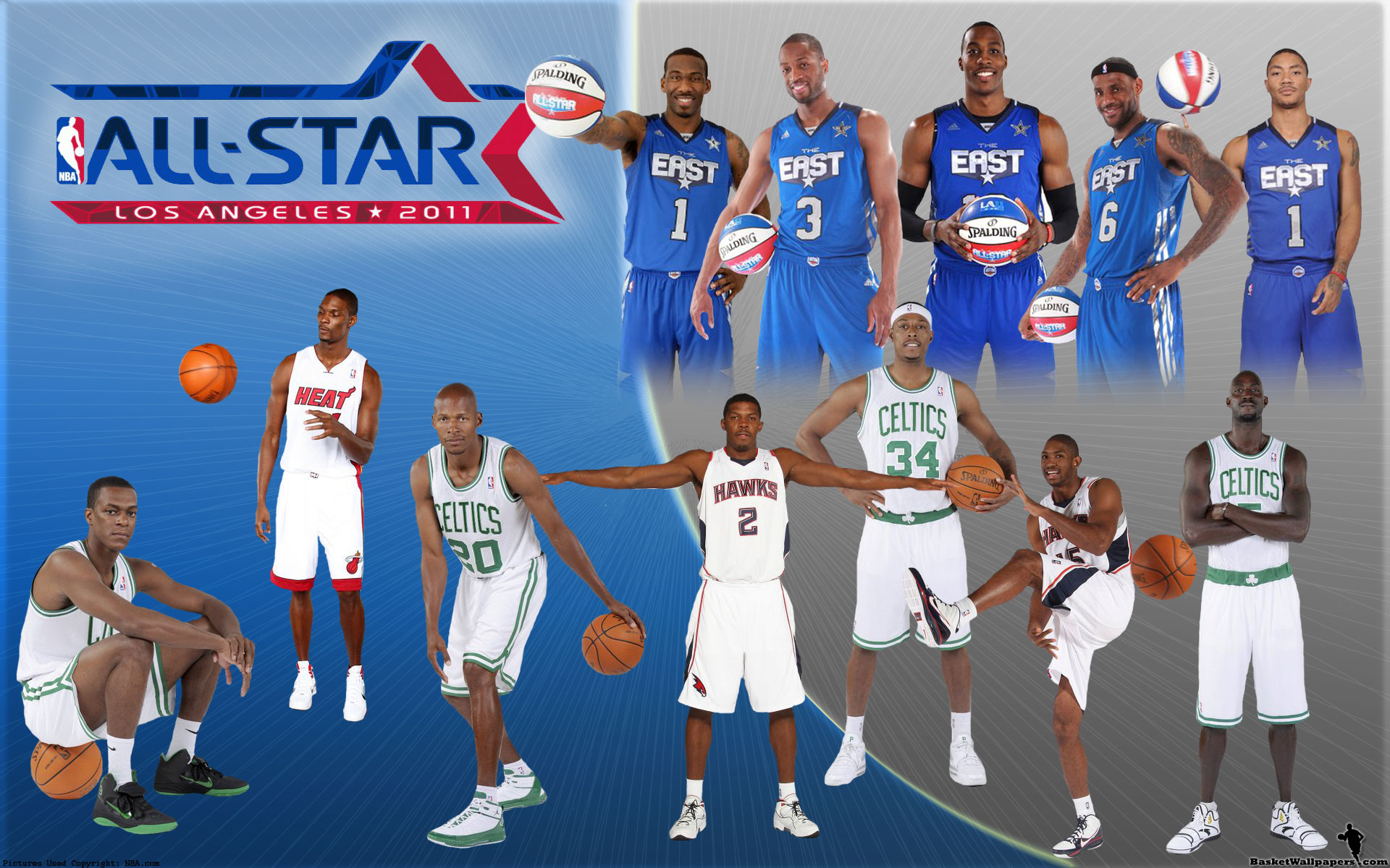 nba all-star 2011 eastern conference team widescreen photo