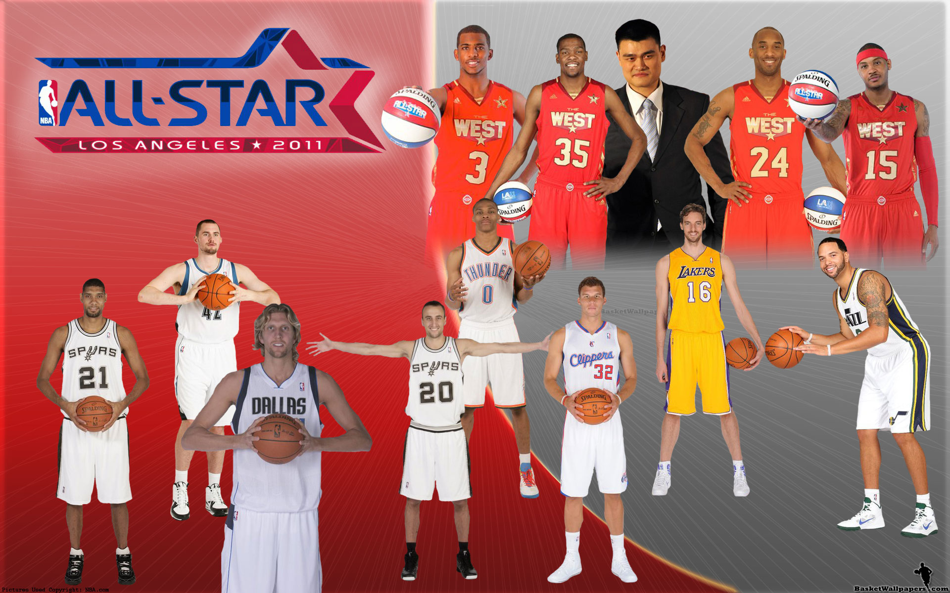 NBA All-Star 2011 Western Conference Team Widescreen