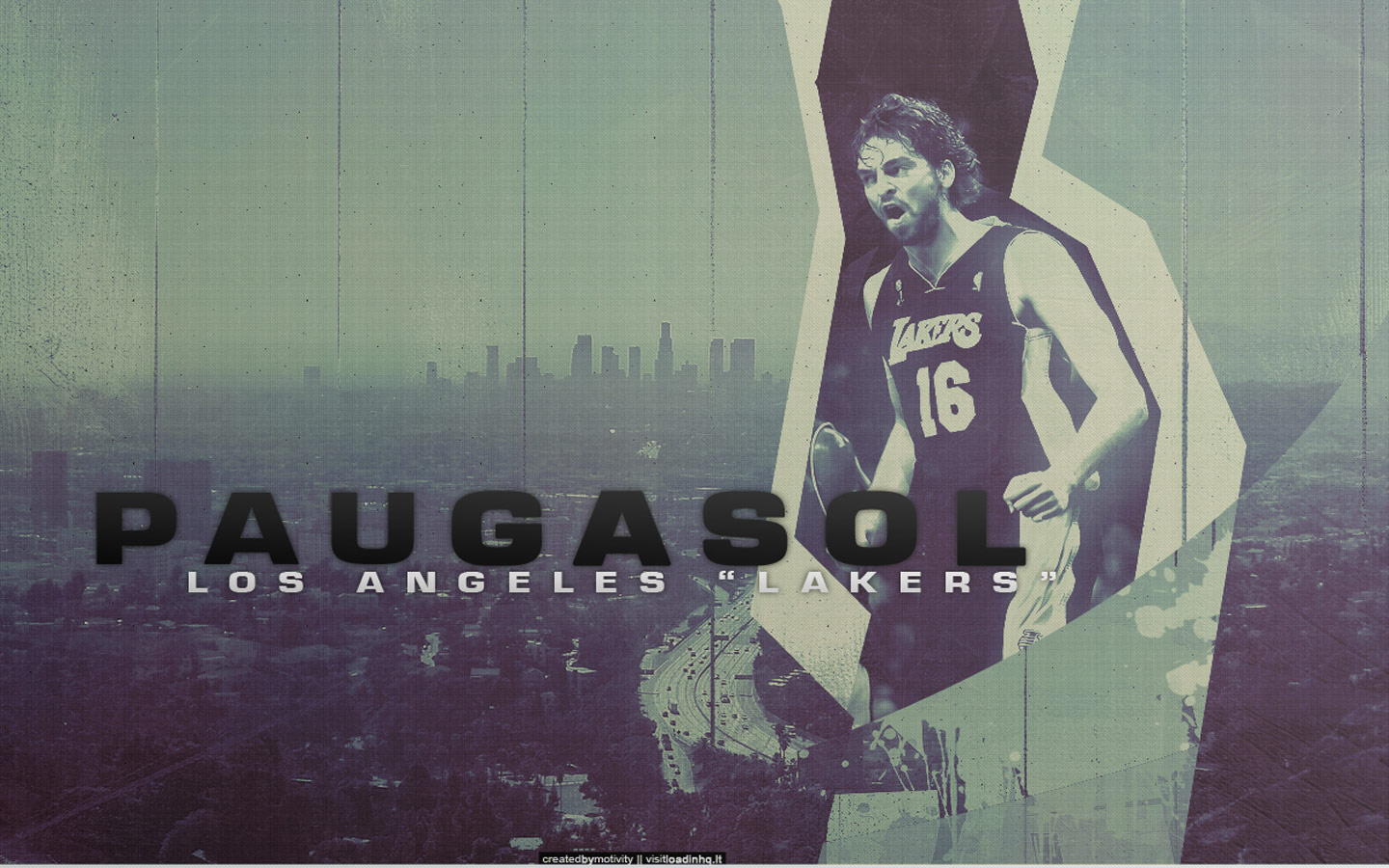 Pau Gasol Lakers Widescreen