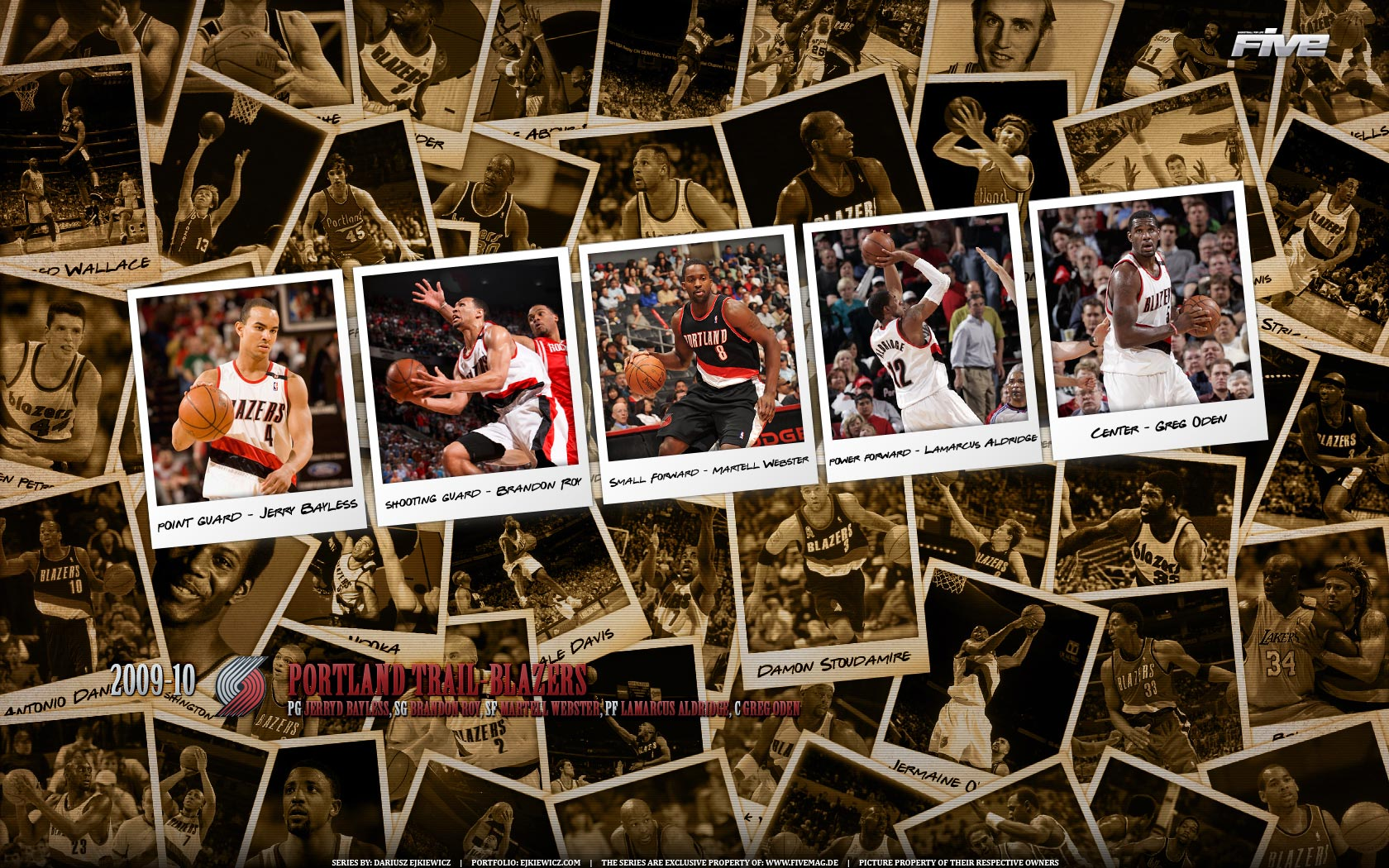 Portland Trailblazers Polaroid 2010 Widescreen